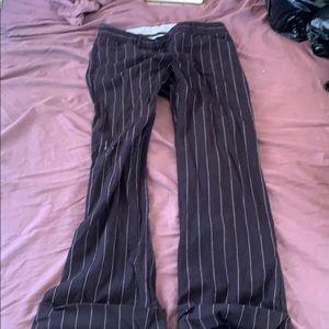 Theory size 0-2 wide leg trousers pinstripe cuff